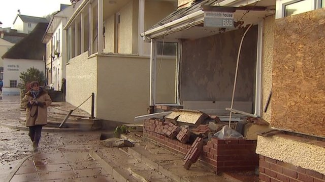 Damaged property in Torcross