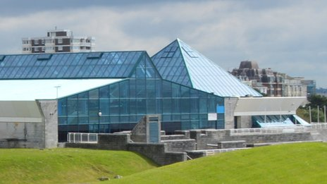 Portsmouth pyramids leisure centre to reopen after storms bbc news for Pyramid swimming pool portsmouth