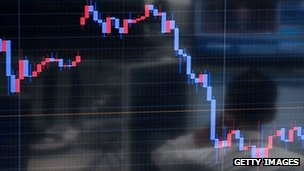 A graph on a markets board