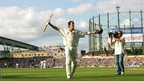 Kevin Pietersen as England win the Ashes at the Oval