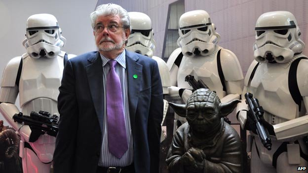 George Lucas and stormtroopers