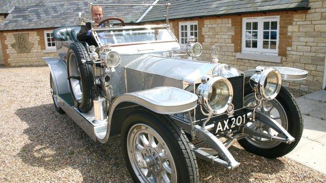 Andrew Marr in a Rolls-Royce Silver Ghost