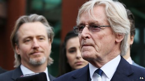 William Roache and son Linus