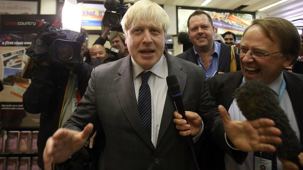 Boris Johnson arrives at Tory conference