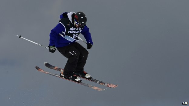 Julia Marino competes at the World Cup Super finals at Sierra Nevada ski resort near Granada on 23 March, 2013