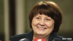 Latvian PM Laimdota Straujuma
