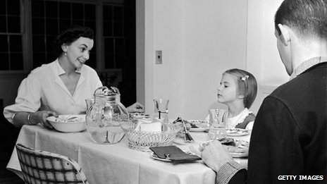 A Family Meal In The 1950s