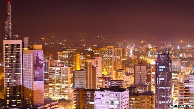 African cityscape, Mutua Matheka
