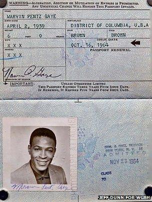 Marvin Gaye's 1964 passport