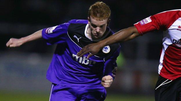 Chester midfielder Jamie Menagh