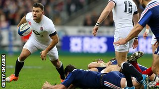 Danny Care of England looks to break with the ball during the Six Nations match between France and England