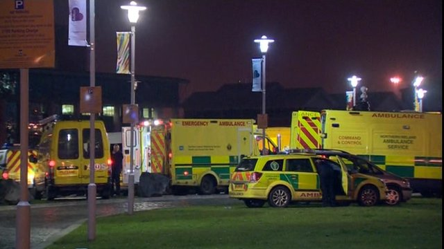Several ambulances were called to the Odyssey Arena in Belfast