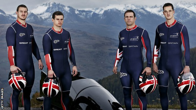 GB Bobsleigh squad