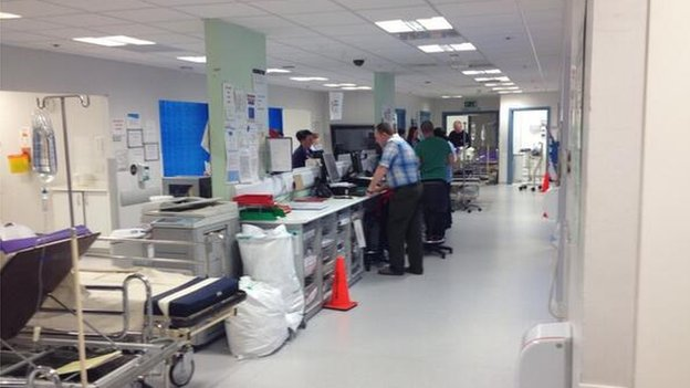 Staff at A&E in Belfast's Royal Victoria Hospital on Thursday night