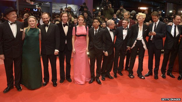 The cast of The Grand Budapest Hotel