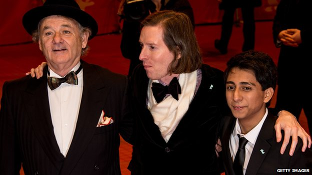 (L-R) Bill Murray, Wes Anderson and Tony Revolori