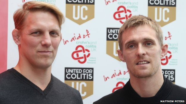 Lewis Moody and Darren Fletcher launch United for Colitis