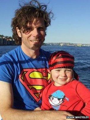 John Whiteley with son Laughlin