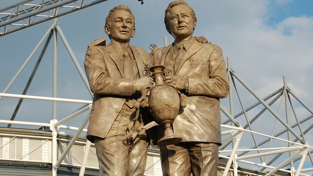 Brian Clough and Peter Taylor statue