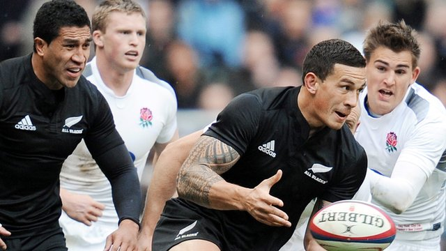 Sonny Bill Williams makes his Test debut against England