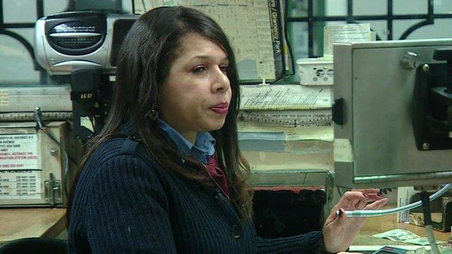 US New York City Transit worker Theresa Green