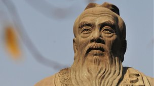 A statue of Confucius, the Chinese philosopher in Beijing
