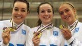 Laura Trott, Dani King and Elinor Barker British Cycling