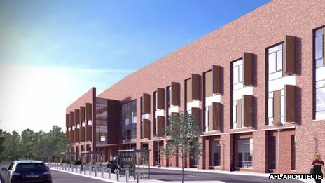 Artist's impression of the new Stratford hospital