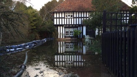 Flooding in Patrixbourne