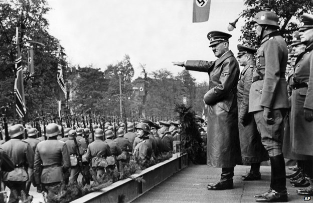 Hitler reviews troops in Poland, October 1939
