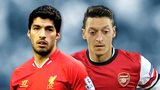 Luis Suarez and Mesut Ozil