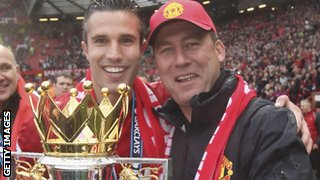 Robin van Persie and Rene Meulensteen
