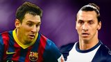 Lionel Messi and Zlatan Ibrahimovic