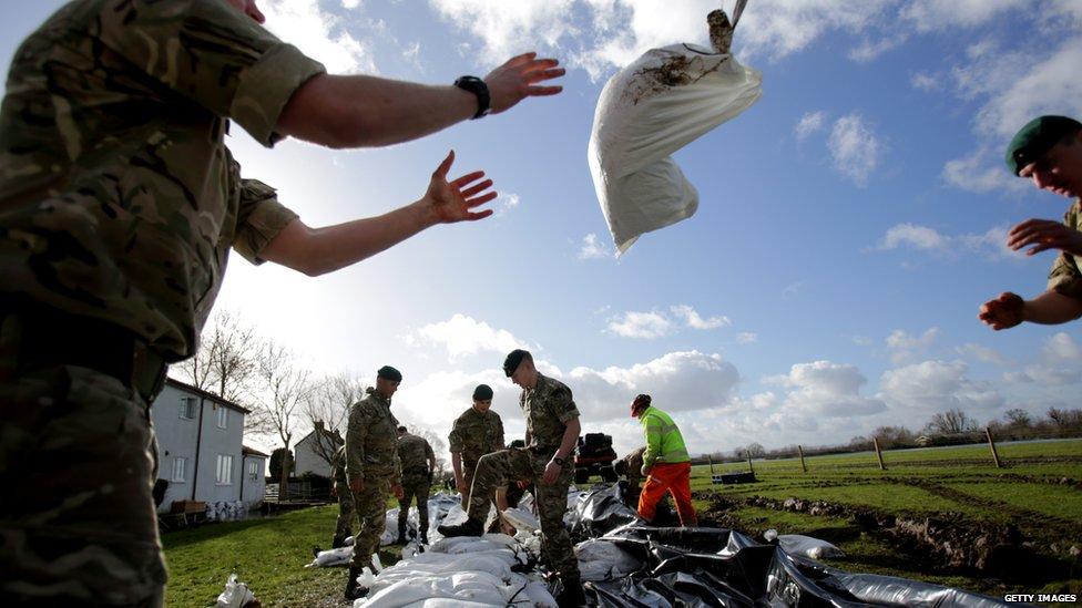 Marines in Moorland Somerset
