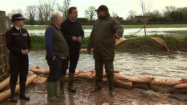 David Cameron with farmer Tony Davy