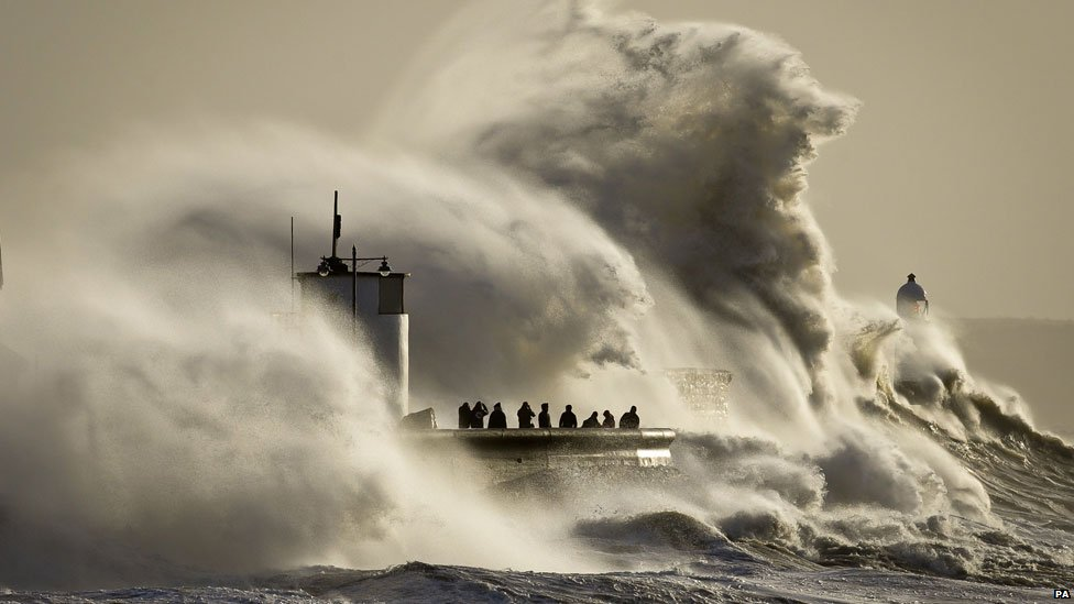 Porthcawl, Bridgend in the storms