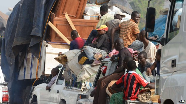 Muslims attempting to flee the CAR capital Bangui
