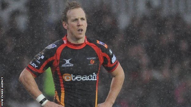 Ashley Smith in the Rodney Parade rain