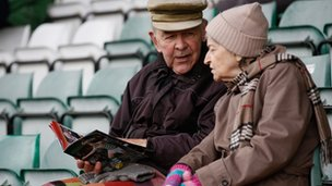 couple at football match