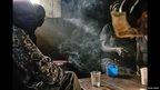 A drinking den in a village in western Kenya
