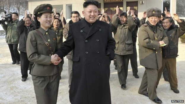 North Korean leader Kim Jong-un visits a revolutionary battle site in this undated photo released by the state news agency on 23 January 2014