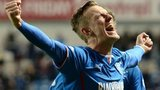 Dean Shiels celebrates after scoring for Rangers