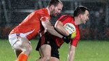 Mark Poland and Ciaran McKeever in action