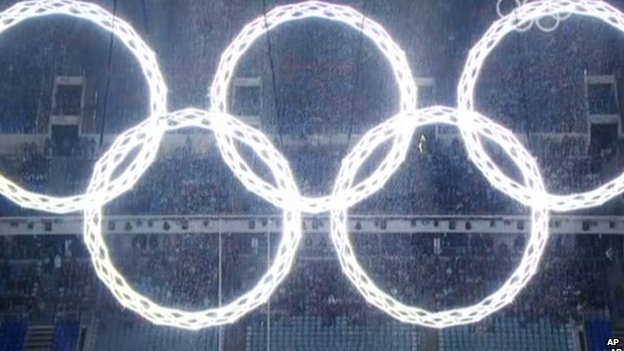 Olympics rings as seen on Russia TV