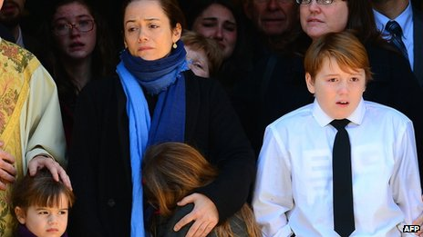 Philip Seymour Hoffman's partner and children at his wake