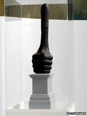 """Really Good"", sculpture by David Shrigley"