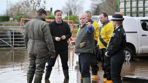 David Cameron visiting flood-hit Somerset