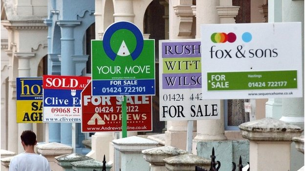 For sale boards outside properties