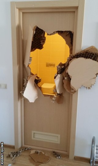 Broken Sochi bathroom door