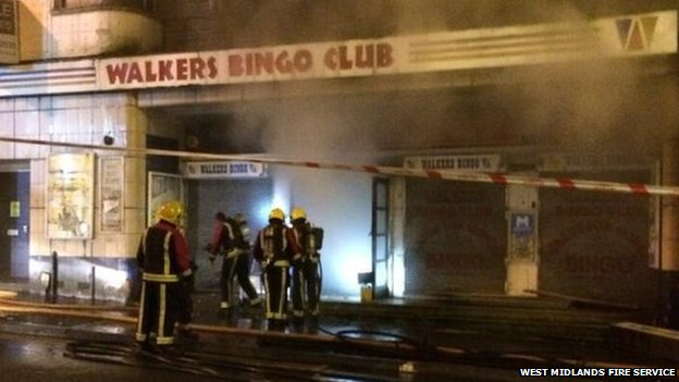 Fire at Bingo Hall
